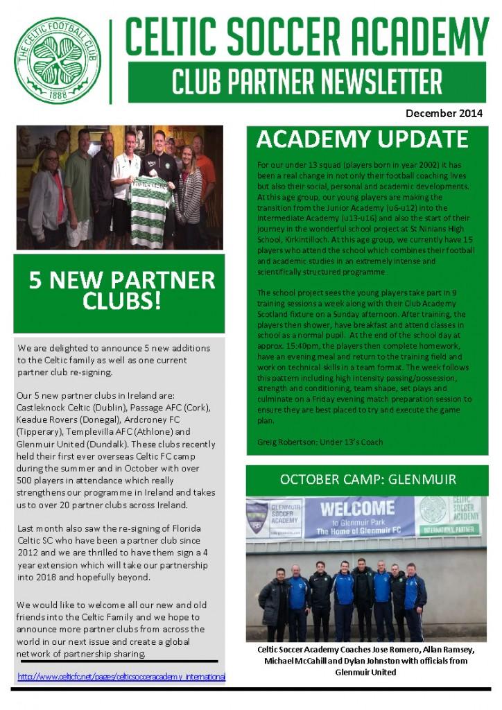 Celtic Newsletter December 2014 - Florida Celtic Soccer ... Soccer Newsletter